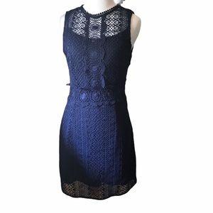 H&M Navy Lace Shift Dress